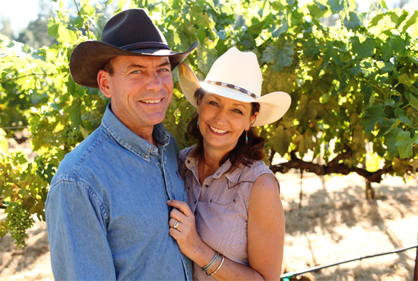 Christine and Gary Smith | Wine tasting Grass Valley